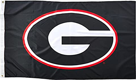 NCAA Georgia Bulldogs 3-by-5 Foot Flag G Logo with Black