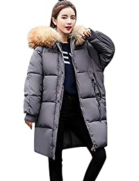 NPRADLA 2018 Herbst Frauen Jacken Winter Einfarbig Dicker Winter Schlank  Warm Lammy Haar Kragen Mantel 7d8ac6909a