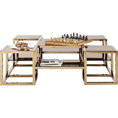 Kare Design - Table Basse 120 cm en Verre Couleur Or Gold
