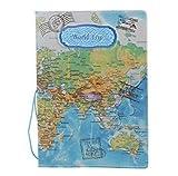 Fundas para pasaporte, sobres, documentos de viaje, suministros (USA001), de 5Five, azul