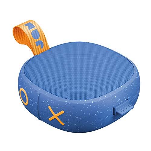 Jam Hang Up - Bluetooth Lautsprecher für die Dusche, Saugnapf, 8 Std. Akkulaufzeit, wasserdicht, staubdicht, sturzfest IP67, Mikrofon, kabellos, Aux-In, integriertes USB Kabel - Blue - Lautsprecher Hängen