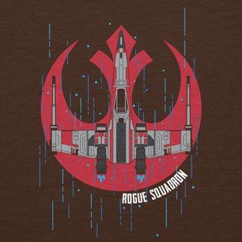 Planet Nerd - Rogue Squadron - Damen T-Shirt Braun