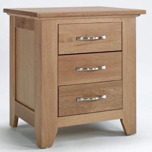 Camberley Eiche 3Schubladen Nachttisch in Eiche Hell Finish | Massiv Holz Schrank mit Drei Schubladen - Master-schlafzimmer-möbel-sets