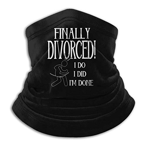 NI Fleece Neck Warmer Gaiter Finalmente divorciado Divertido Suave Microfibra Headwear Face Scarf Mask para el Invierno Clima frío y Mantener el Calor para Hombres Mujeres