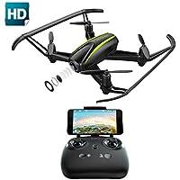 Drone con Telecamera HD 1280*720P Potensic Drone U36W WiFi FPV Quadricottero Telecomando con Funzioni di Sospensione Altitudine, Allarme Fuori Portata, Pianificazione delle Rotte di Volo