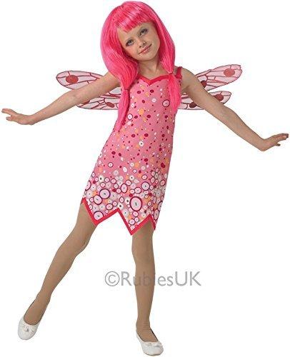 Mädchen Mia und Me Rosa Fee Schmetterling + Wings Cartoon Halloween Kostüm Kleid Outfit 3-8 jahre - Rosa, 5-6 years (Halloween Schmetterling Wings)