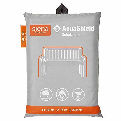 Siena Garden AquaShield Bankschutzhülle, 3-er Set, silber-grau, mit Active Air System, 160x75x65cm