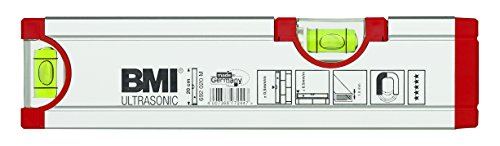 BMI 692020M Wasserwaage Ultrasonic, Länge 20 cm, eloxiert, mit Magnet