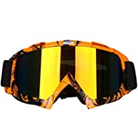 SWAMPLAND Motorradbrillen mit UV-Schutz Anti-Fog Wintersport-Brille Skibrillen Snowboardbrille Radsportbrille Dirtbike Off-Road Schutzbrille,Schwarz und Weiß