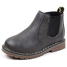 5b28ba72 DoGeek Invierno Zapatos para Niños Chicos Chicas Martin Botas Casual Zapatos  Planos Antiguos de Cremallera (