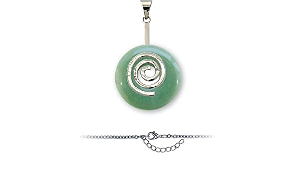 Duo Améthyste Spirale Pi chinois Pendentif Donuts