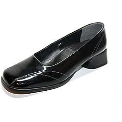 Afis Shoe Fashion 106471 Damen Schuhe Pumps (EU 36, Schwarz)