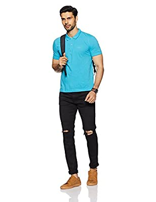Van Heusen Men's Solid Regular Fit T-Shirt