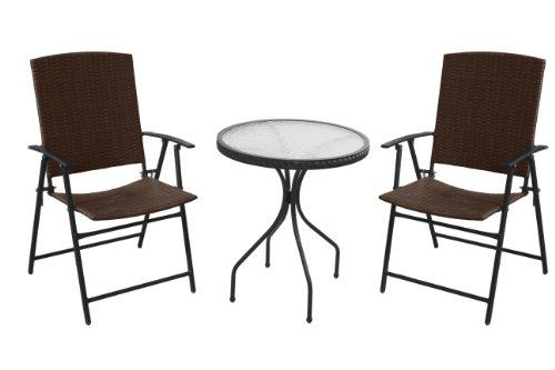 Patio Set, Outdoor-Weidengeflecht Bistro - Patio Bistro-set