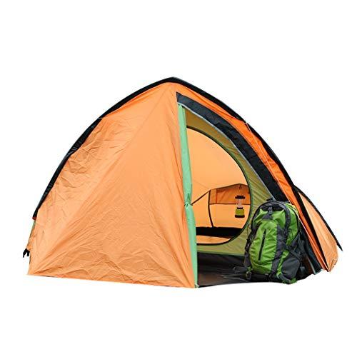 CATRP Marke Groß 2-3 Person Tunnelzelt Wasserdicht Winddicht Multifunktion Tragbar Camping Zelt,Orange