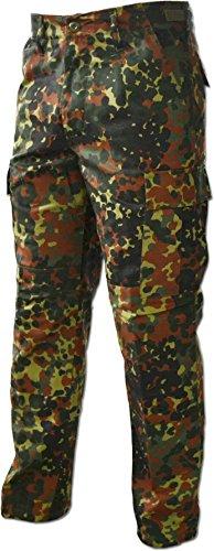 Lange Jagdhose Jägerhose aus robustem Baumwollmischgewebe in verschiedenen Farben Farbe Flecktarn Größe L