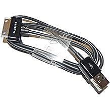 Samsung ECC1DP0UBE - Cable de datos y carga para GT-N8000 Galaxy Note 10.1, GT-P1000 GALAXY Tab, GT-P3100 Galaxy Tab 2 7.0, GT-P3110 Galaxy Tab 2 7.0, GT-P5100 Galaxy Tab 2 10.1, GT-P5110 Galaxy Tab 2 10.1, GT-P6200 Galaxy Tab 7.0 Plus, GT-P6210 Galaxy Tab 7.0 Plus, GT-P6800 Galaxy Tab 7.7, GT-P6810 Galaxy Tab 7.7, GT-P7100 Galaxy Tab 10.1v, GT-P7300 Galaxy Tab 8.9, GT-P7310 Galaxy Tab 8.9, GT-P7500 Galaxy Tab 10.1, GT-P7510 y Galaxy Tab 10.1