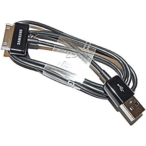 Samsung ECC1DP0UBE - Cable de datos y carga para GT-N8000 Galaxy Note 10.1, GT-P1000 GALAXY Tab, GT-P3100 Galaxy Tab 2 7.0, GT-P3110 Galaxy Tab 2 7.0, GT-P5100 Galaxy Tab 2 10.1, GT-P5110 Galaxy Tab 2 10.1, GT-P6200 Galaxy Tab 7.0 Plus, GT-P6210 Galaxy Tab 7.0 Plus, GT-P6800 Galaxy Tab 7.7, GT-P6810 Galaxy Tab 7.7, GT-P7100 Galaxy Tab 10.1v, GT-P7300 Galaxy Tab 8.9, GT-P7310 Galaxy Tab 8.9, GT-P7500 Galaxy Tab 10.1, GT-P7510 y Galaxy Tab