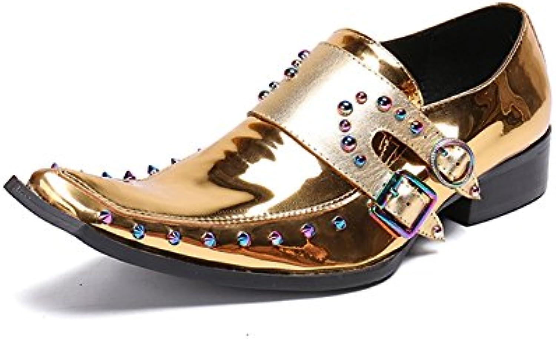Zapatos de Hombre Zapatos de Cuero de la Novedad Primavera/Otoño / Invierno Comodidad/Zapatos de la Pasarela/Oro  -