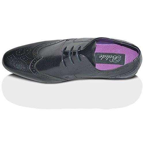 Xelay Hommes Brogue Habillée Italian Bureau D'Oxford Mariage Chaussures À Lacets Taille 39 EU - 12 UK Noir à lacets