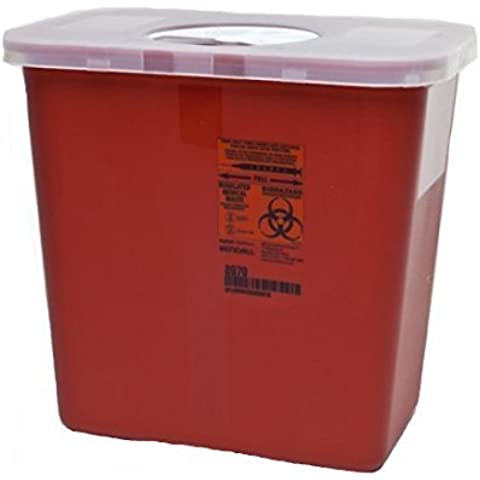 Kendall Covidien Multi-Purpose Sharps Container with Rotor Lid, Red by Kendall/Covidien - Red Sharps Container