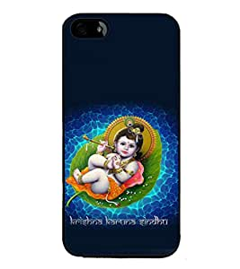 printtech Lord Krishna Small Flute Back Case Cover for Apple iPhone 5