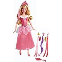 Princesas Disney - Muñeca Bella Durmiente con peinados de joyas (Mattel BDJ51)