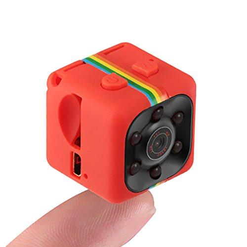 Hanbaili (Rot) 1080P Full HD DVR Auto Kamera Recorder, Videorekorder Portable Tiny mit Nachtsicht und Bewegungserkennung Überwachungskamera für Drohnen, FPV, Home und Office Surveillance (Autos Für Kamera Geheimen)