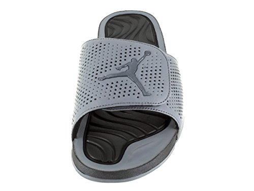 Nike Jordan Hydro 5, espadrilles de basket-ball homme COOL GREY/METALLIC HEMATTIE-BLACK