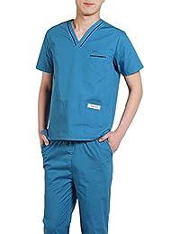 Jiyaru Uniforme Médico Ropa Enfermera Bata Médico Laboratorio Enfermera Sanitaria