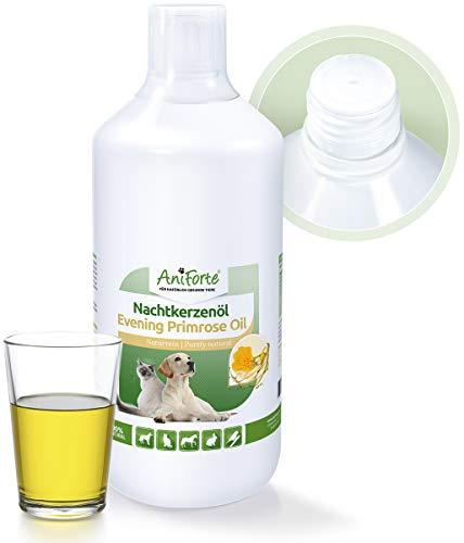 AniForte natürliches Nachtkerzenöl 1 Liter- Naturprodukt für Hunde und Pferde