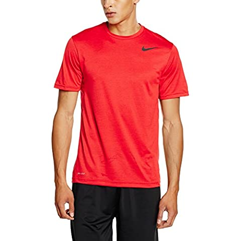 Nike Dri-Fit Training SS - Camiseta para hombre, color rojo / negro, talla XL