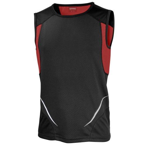 Spiro - Camiseta deporte transpirable sin mangas hombre