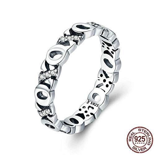 J-Z Fashionring 925 Sterling Silber Stapelbar Kiss & Hug Klar Cz Fingerringe für Frauen Silber Schmuck, Ring, 7 - Ringe Cz Alle Herren