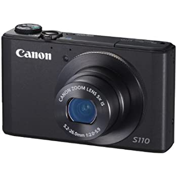 Canon PowerShot S110 Digital Camera - Black (12.1MP, 5x Optical Zoom) 3 inch Touchscreen LCD – (Discontinued by Manufacturer)