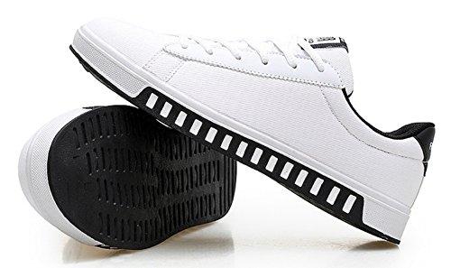 DADAWEN Homme Classique Printemps-Automne Mode Sneaker Blanc