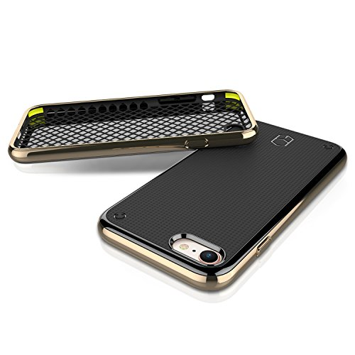 Patchworks Flexguard Hülle für iPhone 8 Plus / 7 Plus Hülle - Slim Fit Protective Schutzhülle iPhone 8 Plus / 7 Plus Case mit Poron XRD, Cover iPhone 8 Plus / 7 Plus Tasche, iPhone 8 Plus / 7 Plus Sch Gold
