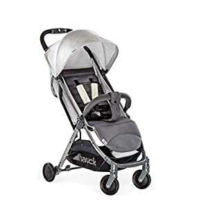 Hauck Swift Plus, Compact Pushchair with Lying Position, Extra Small Folding, One Hand Fold, Lightweight, Carrying Strap, from Birth Up To 15 kg, Lunar   7