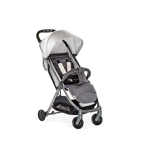Hauck Swift Plus, Compact Pushchair with Lying Position, Extra Small Folding, One Hand Fold, Lightweight, Carrying Strap, from Birth Up To 15 kg, Lunar Hauck Our smallest comfort stroller Extra small and fast folding with one hand Extremely light - easy to carry over the shoulder 1