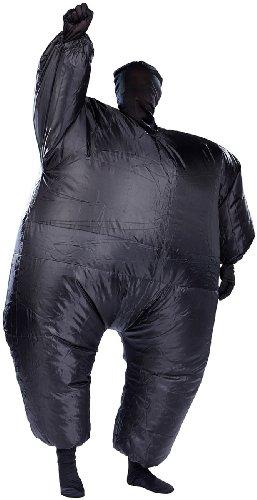 Playtastic Kostüm Selbstaufblasend: Selbstaufblasender Ganzkörperanzug, schwarz (Aufblasbare (Für Aufblasbare Schwarz Erwachsene Kostüme)