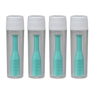 SUPVOX Linsensauger Kontaktlinse Saugstab Silikon mit Flasche für Reise Kontaktlinse Entfernen Tragen 4 Stück (Grün)