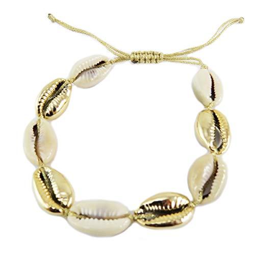 Les Trésors De Lily [Q5784 - Ethnisches Armband (GGrraaiinn ddee CCaaffé) goldbeige (Schale) -...