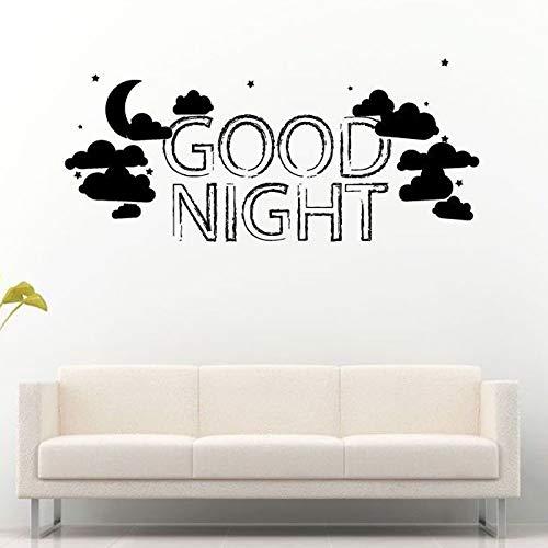 d Wolken Sterne Schlaf Wandaufkleber Für Babys Schlafzimmer Sweet Home Murals Vinyl Wandtattoos Schlafzimmer weiß 124X57 cm ()