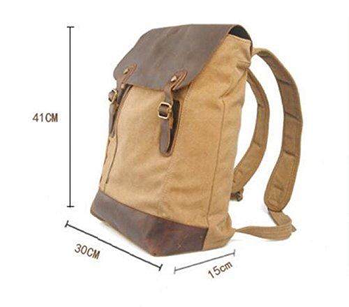 Retro Rucksack Student Schultasche Mode Reise Outdoor Casual Schultertasche Tagesrucksack Gray