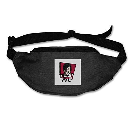 HKUTKUFGU Bauchtasche für Damen und Herren, PFC Popeyes Fried Chicken Logo Little Nicky KFC Taillentasche Reisetasche Geldbörse Bauchtasche für Laufen, Radfahren, Wandern, Workout -