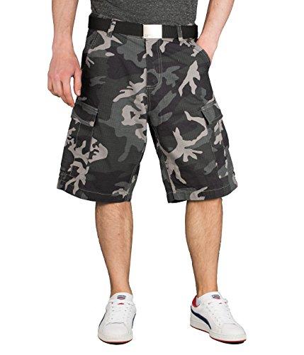 BetterStylz Ric Kurze Hose Herren Bermuda Shorts Vintage Capri Cargo Style (W28-W40) (30, Urban Camo)