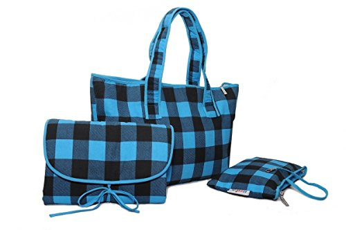Wickeltasche Karierte (Belily World Keck Kariert Wickeltasche Set, Shopper Bag)