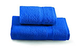 Gabel Tintunita & Co Set Asciugamani, 100% Cotone, Blu Elettrico, 100x60x0.8 cm