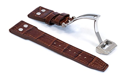 watchassassin-brown-italian-leather-pilot-rivet-strap-with-deployment-clasp-22mm