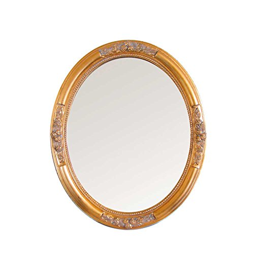 Ovaler Spiegel in Gold Barock Breite 57 cm Höhe 77 cm Pharao24 Ovaler Holz-spiegel
